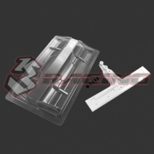 F1 LEXAN FRONT WING SET 1/10-WHITE MOUNT (FOR F1 BODY)