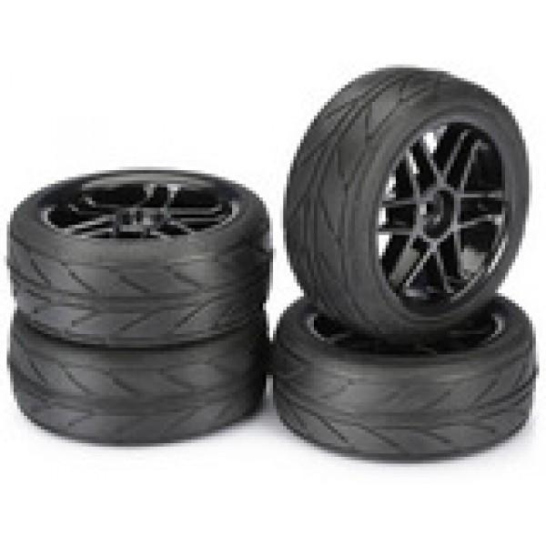 """Absima Wheel Set Onroad """"6 Spoke / Profile"""" black 1:10 (4 pcs)  ΖΑΝΤΕΣ/ΛΑΣΤΙΧΑ"""