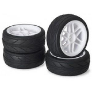 "Absima ,Wheel Set Onroad ""6 Spoke / Profile"" white 1:10 (4 pcs)"