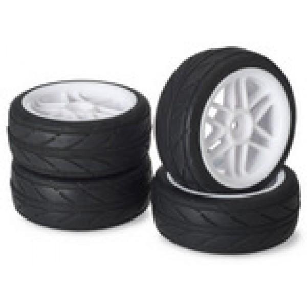 """Absima ,Wheel Set Onroad """"6 Spoke / Profile"""" white 1:10 (4 pcs)  ΖΑΝΤΕΣ/ΛΑΣΤΙΧΑ"""