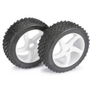 """ABSIMA,Wheel set Buggy 1/8 """"5 Spoke/Dirt"""" White (2pcs)"""