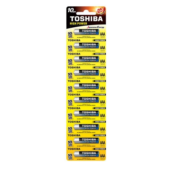 TOSHIBA ALKALINE BATTERIES LR6/AA 1,5V (1 PIECE) ΜΠΑΤΑΡΙΕΣ